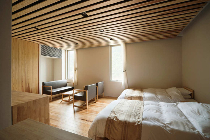 Yusuhara marche market hotel by kengo kuma yusuhara for Design hotel japan
