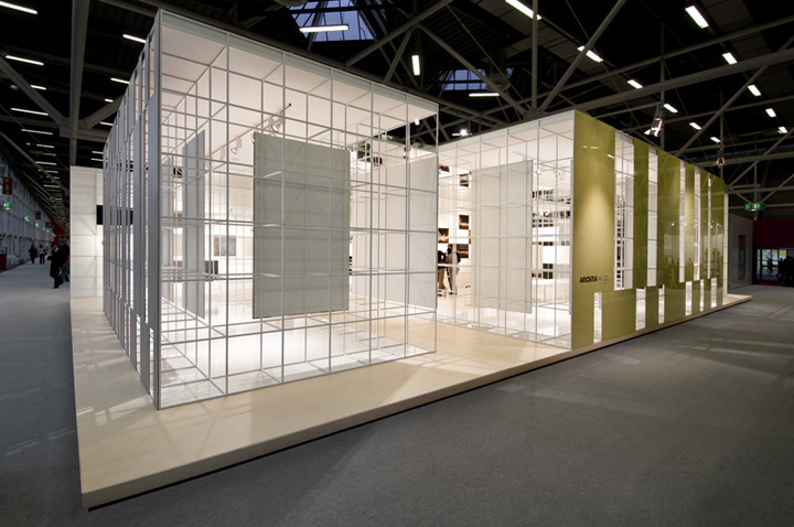Exhibition Stand Floor Plan : Ariostea booth at cersaie by marco porpora bologna
