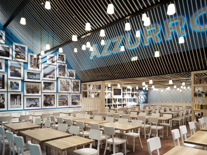 Azzurro restaurant by andrin schweizer company zurich