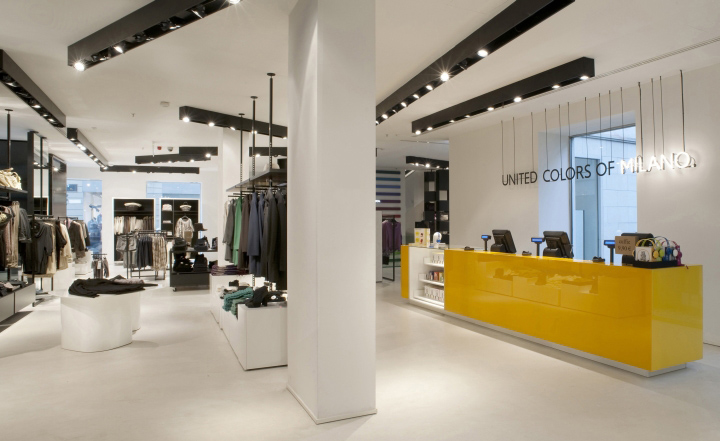 Benetton tienda por Piero Lissoni tienda insignia de Milán 02 Benetton por Piero Lissoni, Milán
