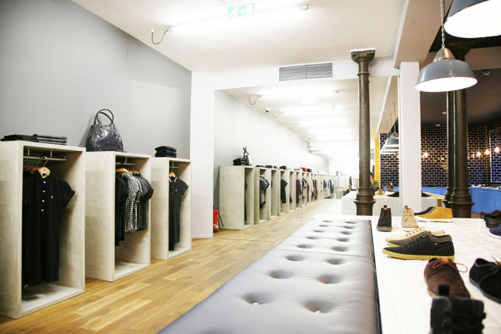 fred perry store by buckleygrayyeoman munich retail design blog. Black Bedroom Furniture Sets. Home Design Ideas