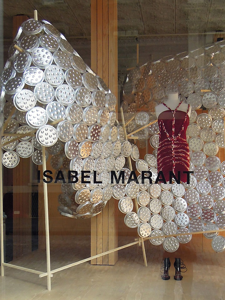 Using over 10,000 plates, Goron has filled Isabel Marant