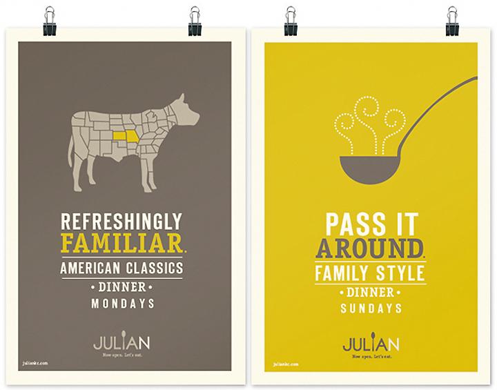 Julian restaurant branding by jordan grey retail design