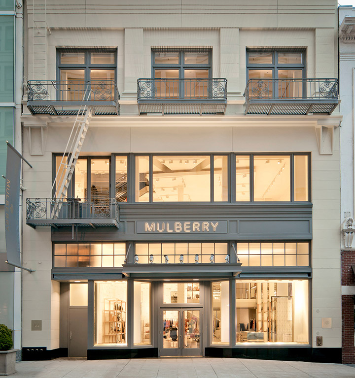 Mulberry store san francisco retail design blog for Retail shop exterior design