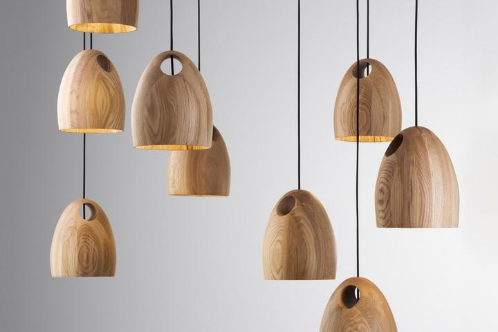 Oak lamp by Ross Gardam » Retail Design Blog