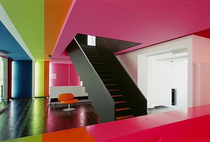 Interior design home decor furniture seating rainbow for Ippolito fleitz group