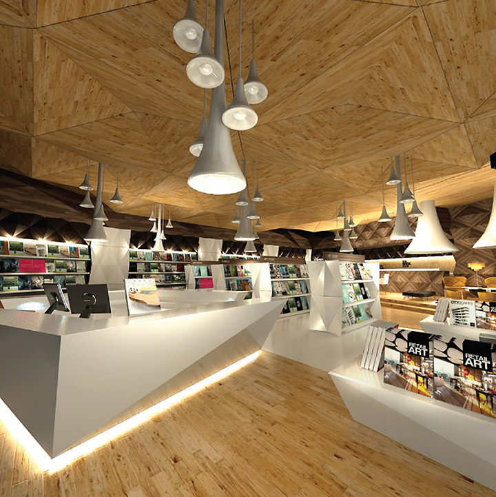 Lighting In Interior Design Creative: » The Story Unfolds Bookstore Design & Branding By Leong
