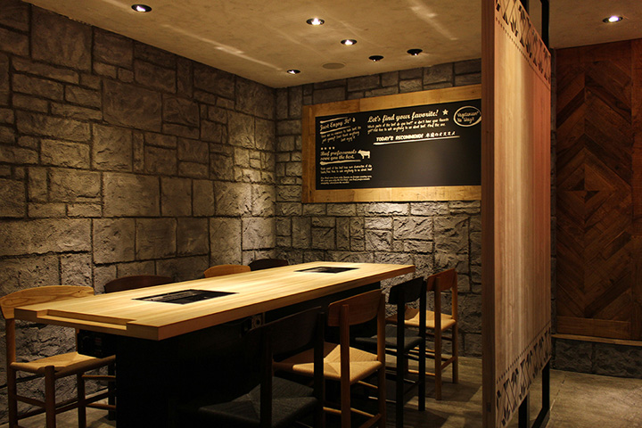 Yakaniku sakamoto restaurant by design office dress osaka retail