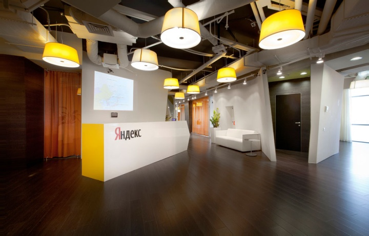Yandex office by za bor architects kazan russia for Office entrance design