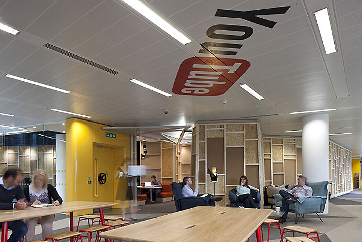 Youtube offices by penson group london retail design blog for Retail design companies london