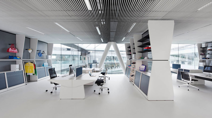 adidas workout office by kinzo herzogenaurach germany retail design blog. Black Bedroom Furniture Sets. Home Design Ideas