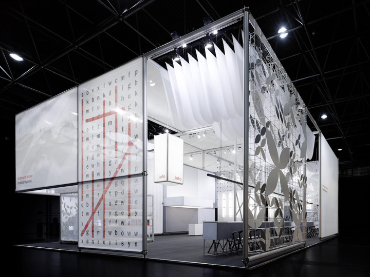 Fabric Exhibition Stand Years : Burkhardt leitner fair stand at euroshop by ippolito fleitz