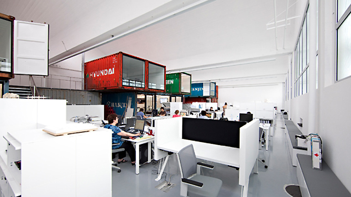 Cargo containers in offices » Retail Design Blog