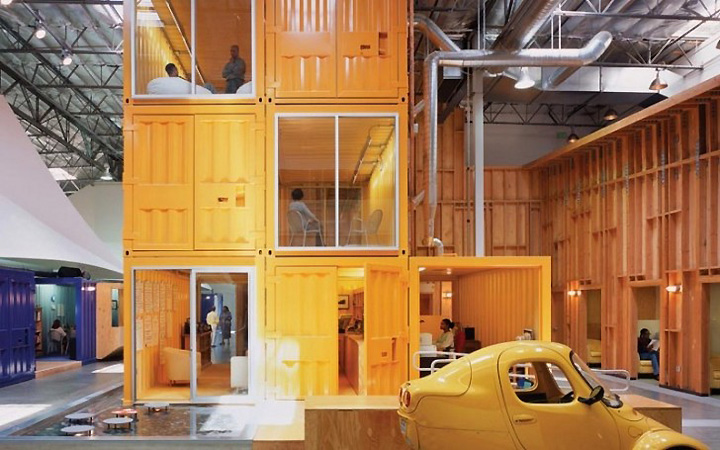 187 Cargo Containers In Offices