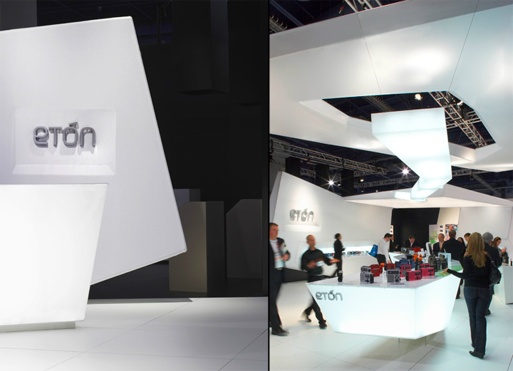 Exhibition Booth Design Award : Eton stand at ces by gunther spitzley las vegas retail