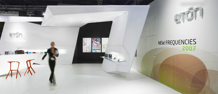 Modern Exhibition Stand Mockup : Eton stand at ces by gunther spitzley las vegas