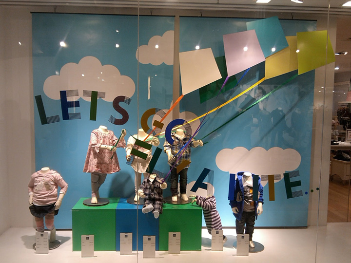 Gap Kids Window Display Jakarta 187 Retail Design Blog