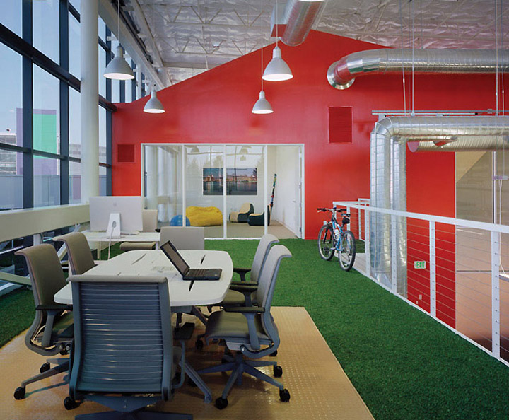 Googleplex offices mountain view retail design blog for Google office interior designs pictures