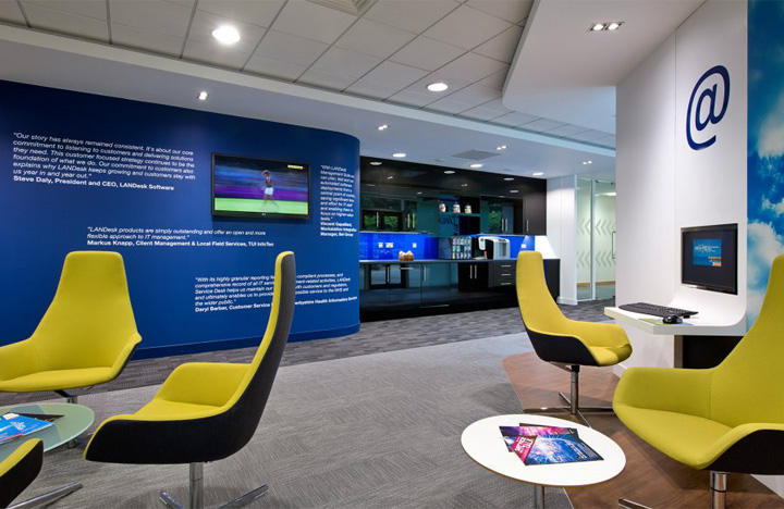 Landesk offices by area sq bracknell uk retail design for Office area design