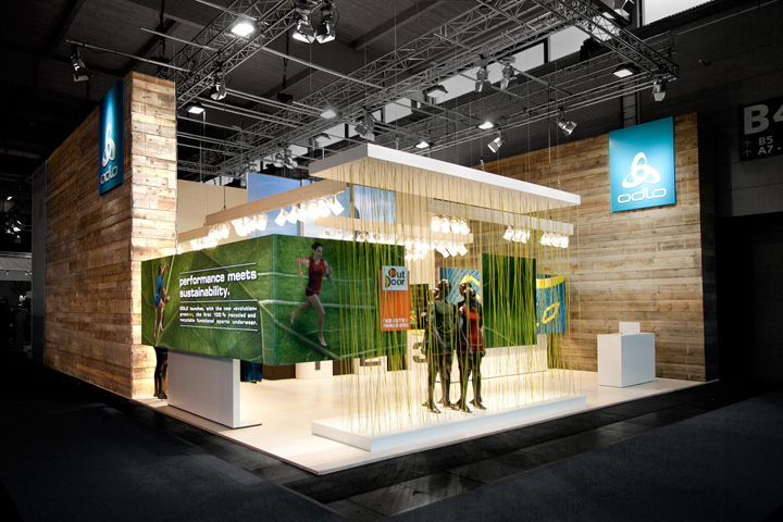 Exhibition Stand Concept : Odlo trade fair stand by laborrotwang
