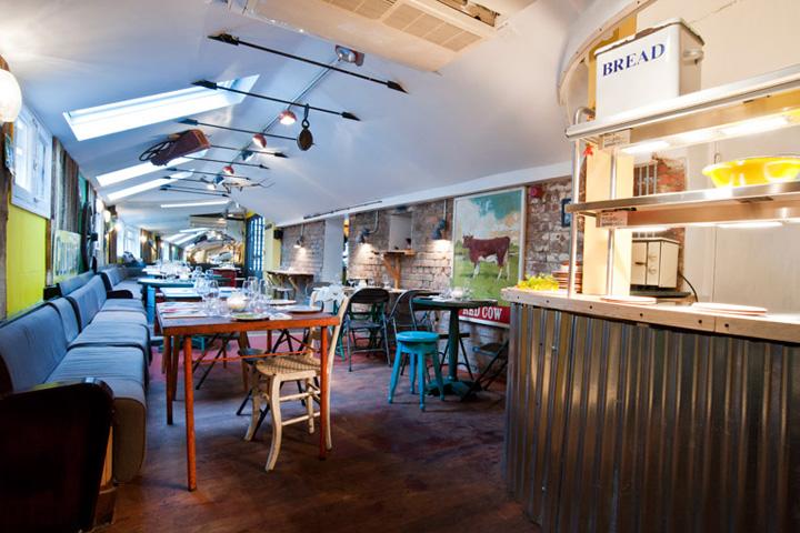 Low tech design the shed restaurant london retail