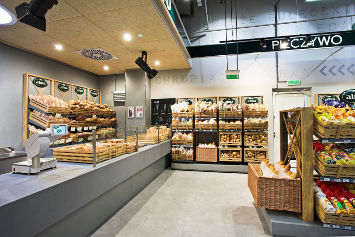 Alma grocery by moco locco krakow poland retail for Store building design