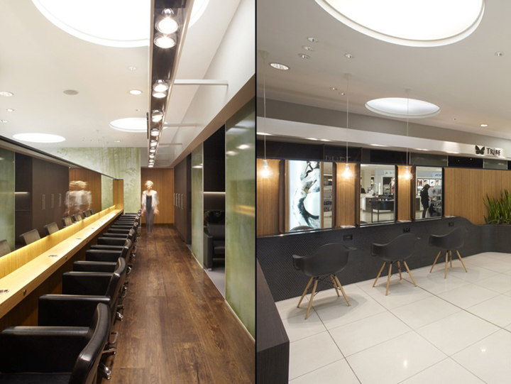 Aveda lifestyle salon by reis design sydney retail for Sydney salon