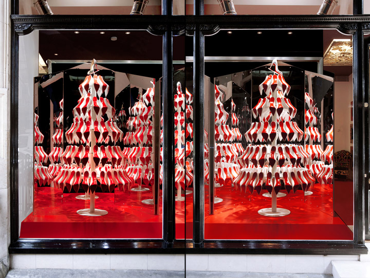 Christian Louboutins Christmas tree display Christian Louboutins Christmas tree display by StudioXAG