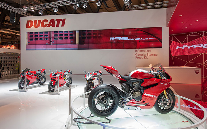 Ducati stand by POINT studio Milan Cologne 02 Ducati stand by POINT studio, Milan, Cologne
