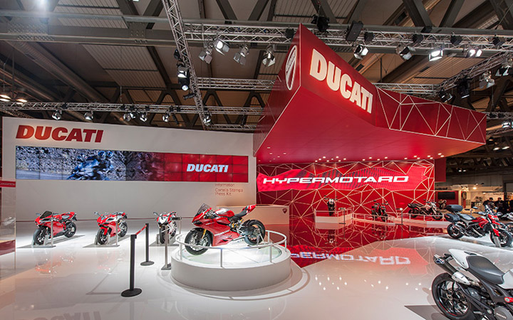 Ducati stand by POINT studio Milan Cologne 03 Ducati stand by POINT studio, Milan, Cologne