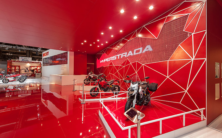 Ducati stand by POINT studio Milan Cologne Ducati stand by POINT studio, Milan, Cologne