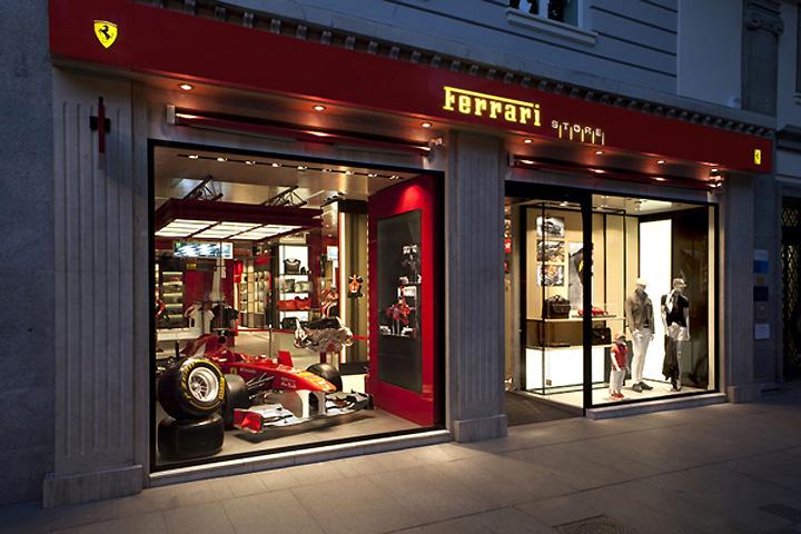 Ferrari store by Iosa Ghini Associates, Madrid \u00bb Retail Design Blog