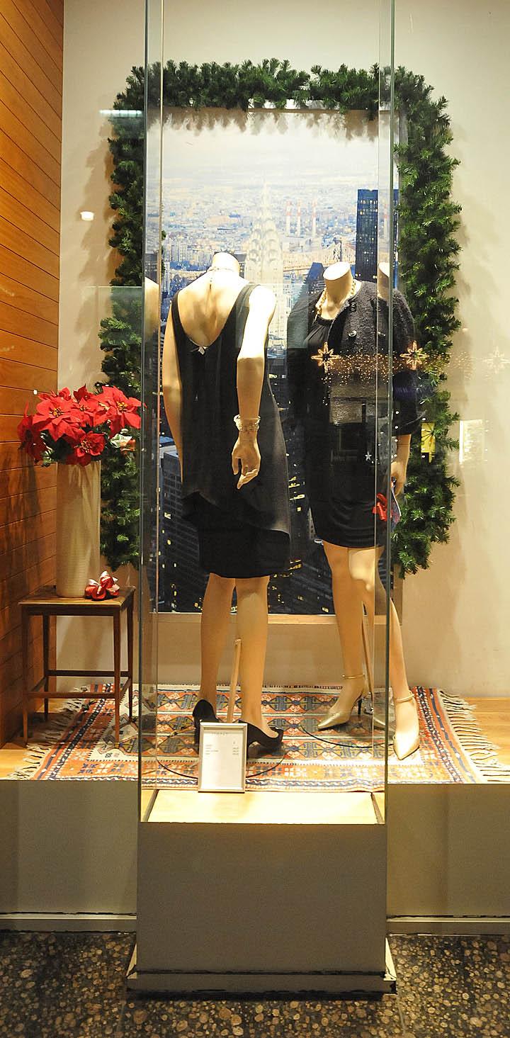 Gant Christmas Windows 2012 Vienna Buenos Ninos Vintage Mini Dress Brown Add
