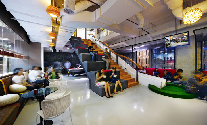 Creative office environments Designing Ogilvy Mather Was Scattered Throughout Jakarta And Made The Decision To Take Over Two Consecutive Floors Of Sentral Senayan Iii Modern 28storey Office Bisnow Creative Offices Ogilvy Mather Office By Moser Associates Jakarta