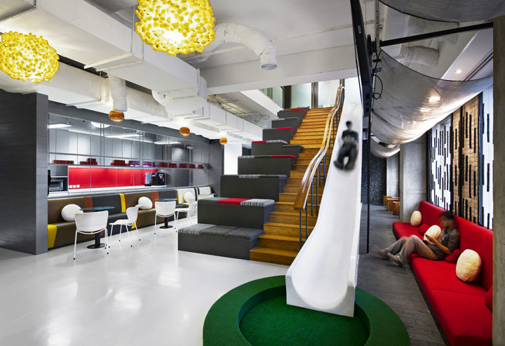 Creative offices ogilvy mather office by m moser for Office working area design