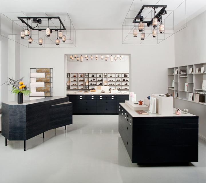 Paper tea store by fabian von ferrari berlin retail for Design shop berlin