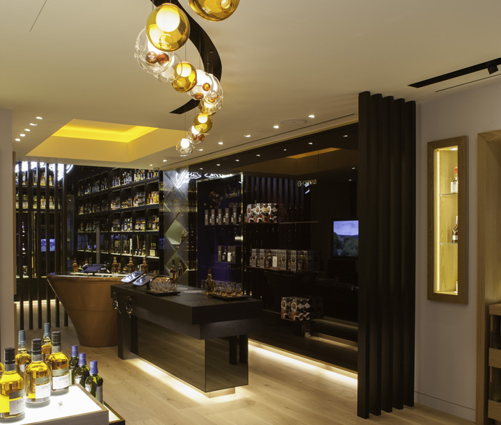 Navy And Grey Visual Merchandising Shop Display November: » The Whisky Shop Flagship Store By Gpstudio, London