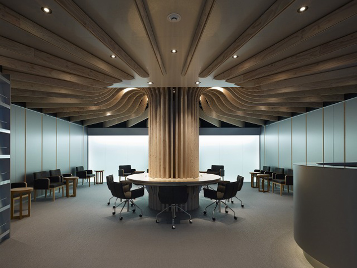 Airport lounge by takao shiotsuka oita japan retail for Japanese office interior design