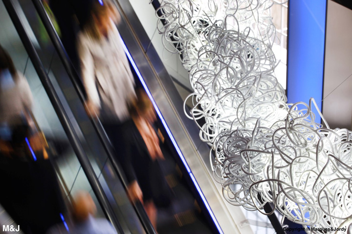 New installations at the offices of Bloomberg, London.