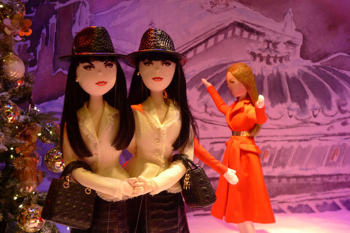 Paris Christmas window displays