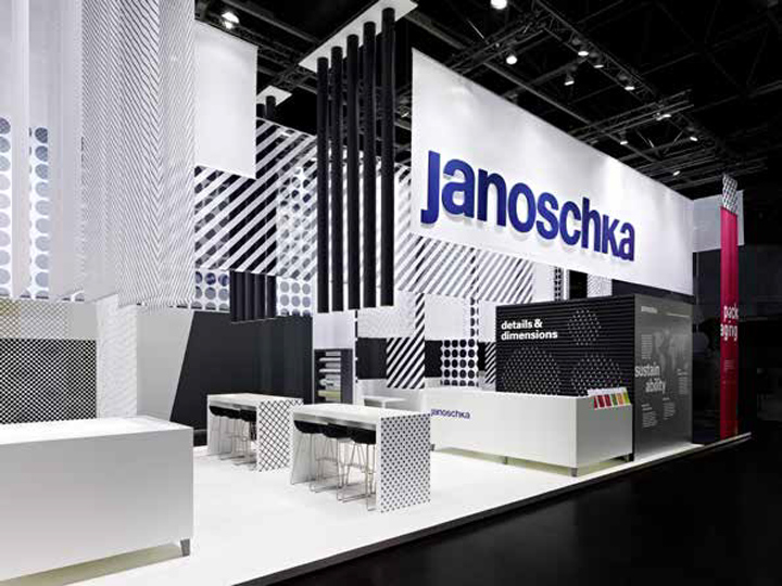 Exhibition Stand Design Guidelines : Janoschka fair stand at drupa by ippolito fleitz