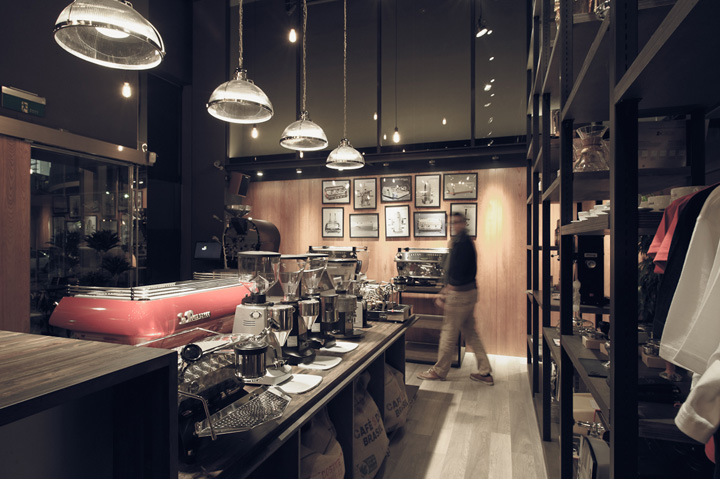 La marzocco flagship store by plan taipei retail design blog - Machine a cafe design ...