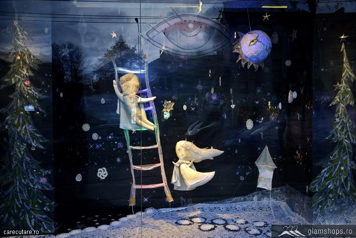 187 Madison Perfumery Christmas Window Display Bucharest