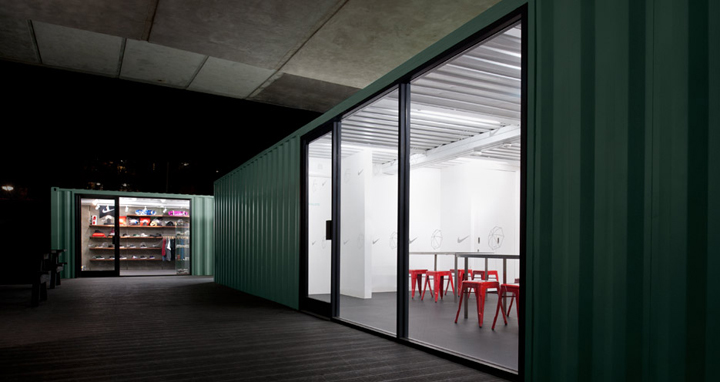 Nike at baysixty6 skate park by brinkworth london for Design hotel chiemsee