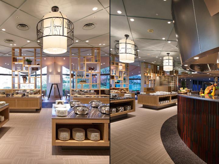 Serina buffet restaurant by fan design label narita japan