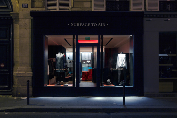 surface to air store by federico masotto paris retail design blog. Black Bedroom Furniture Sets. Home Design Ideas