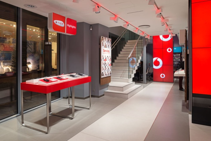 Vodafone flagship store by KMS BLACKSPACE Cologne Vodafone flagship store by KMS BLACKSPACE, Cologne
