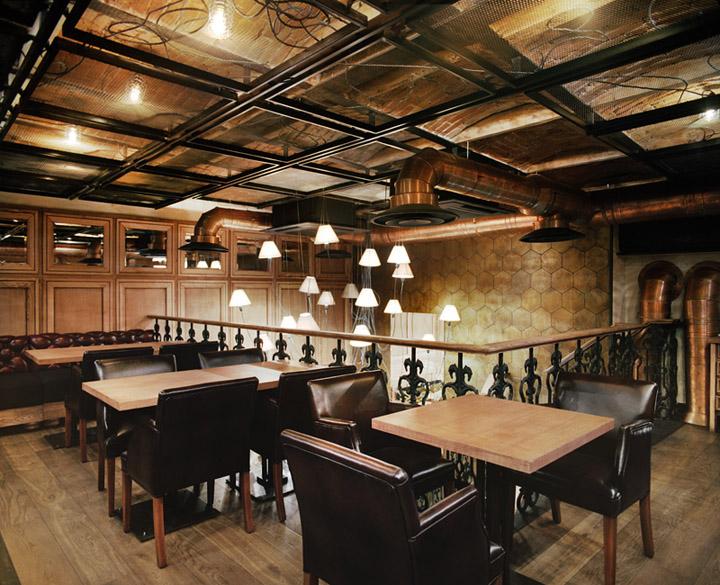 zara pizzara restaurant by studio belenko odessa ukraine. Black Bedroom Furniture Sets. Home Design Ideas