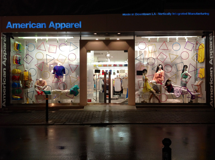 American apparel spring windows by lena shockley japan for Brand windows