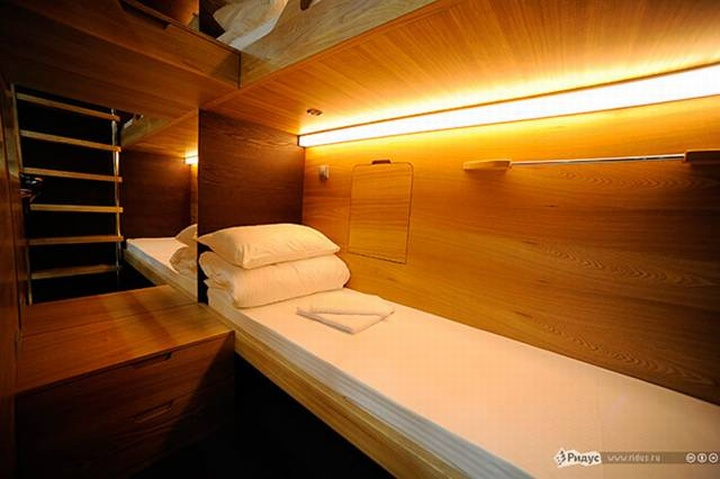 Capsule hotel moscow retail design blog for Design hotel moscow